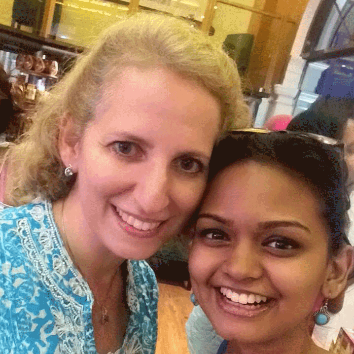 Kavindya with her mentor Antonia