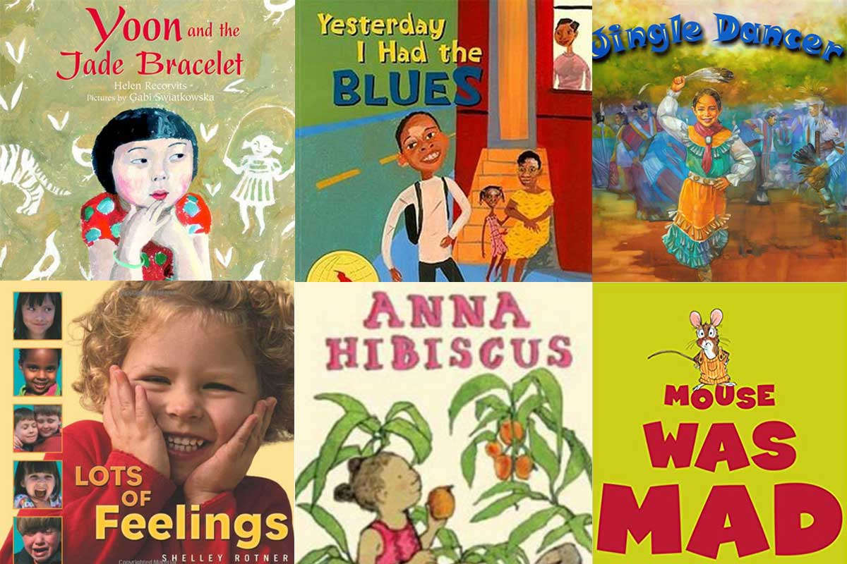 Collage of children's book covers that are mentioned in this article.