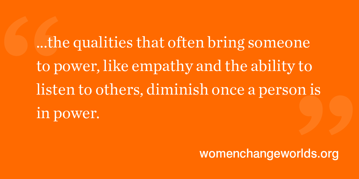 Quote from article: ...the qualities that often bring someone to power, like empathy and the ability to listen to others, diminish once a person is in power.