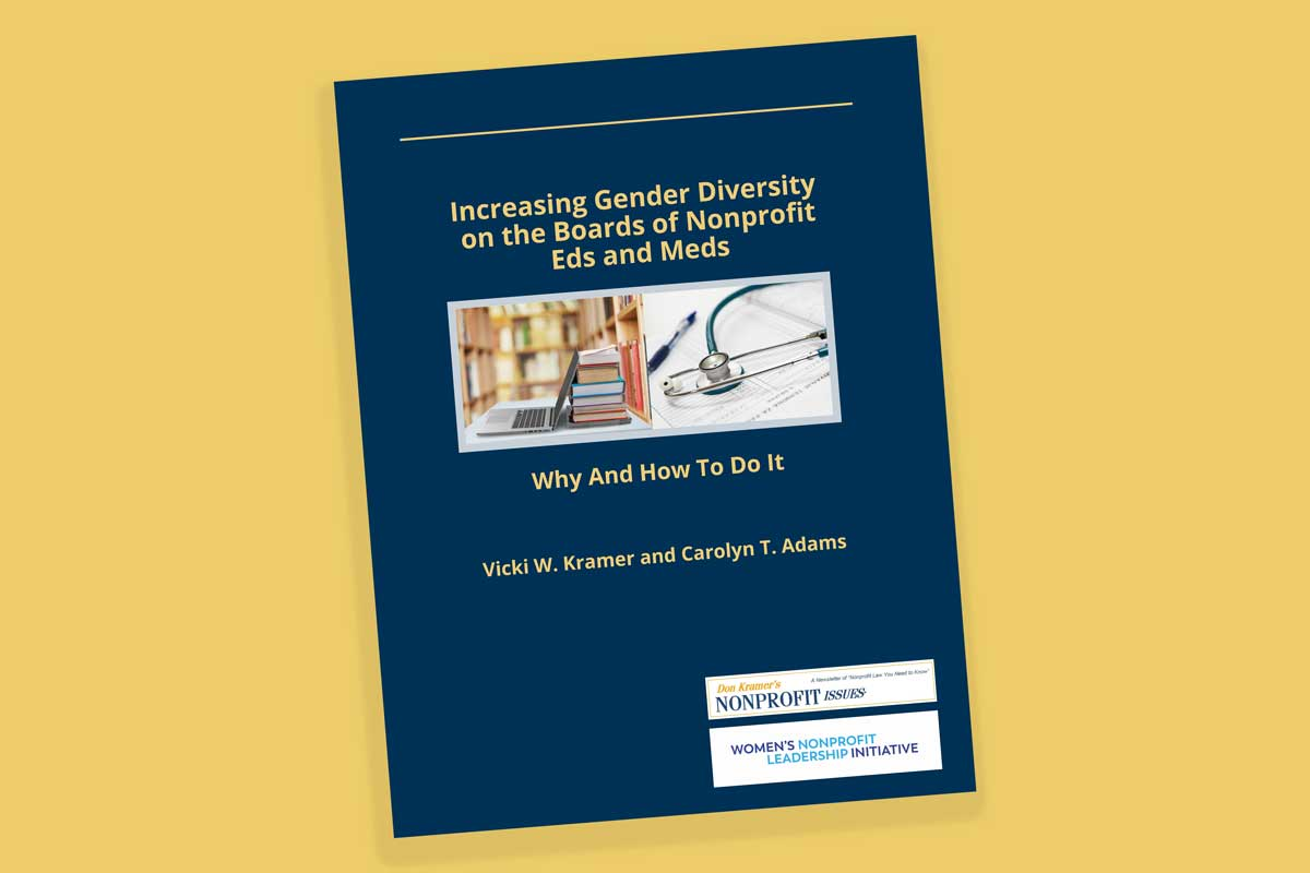 Increasing Gender Diversity on the Boards of Nonprofit Eds and Meds: Why and How to Do It