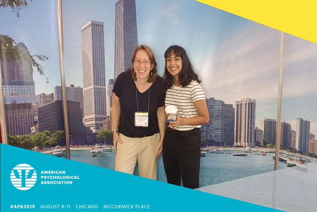 Dr. Jennifer Grossman and Wellesley College student Anmol Nagar at 2019 APA convention.