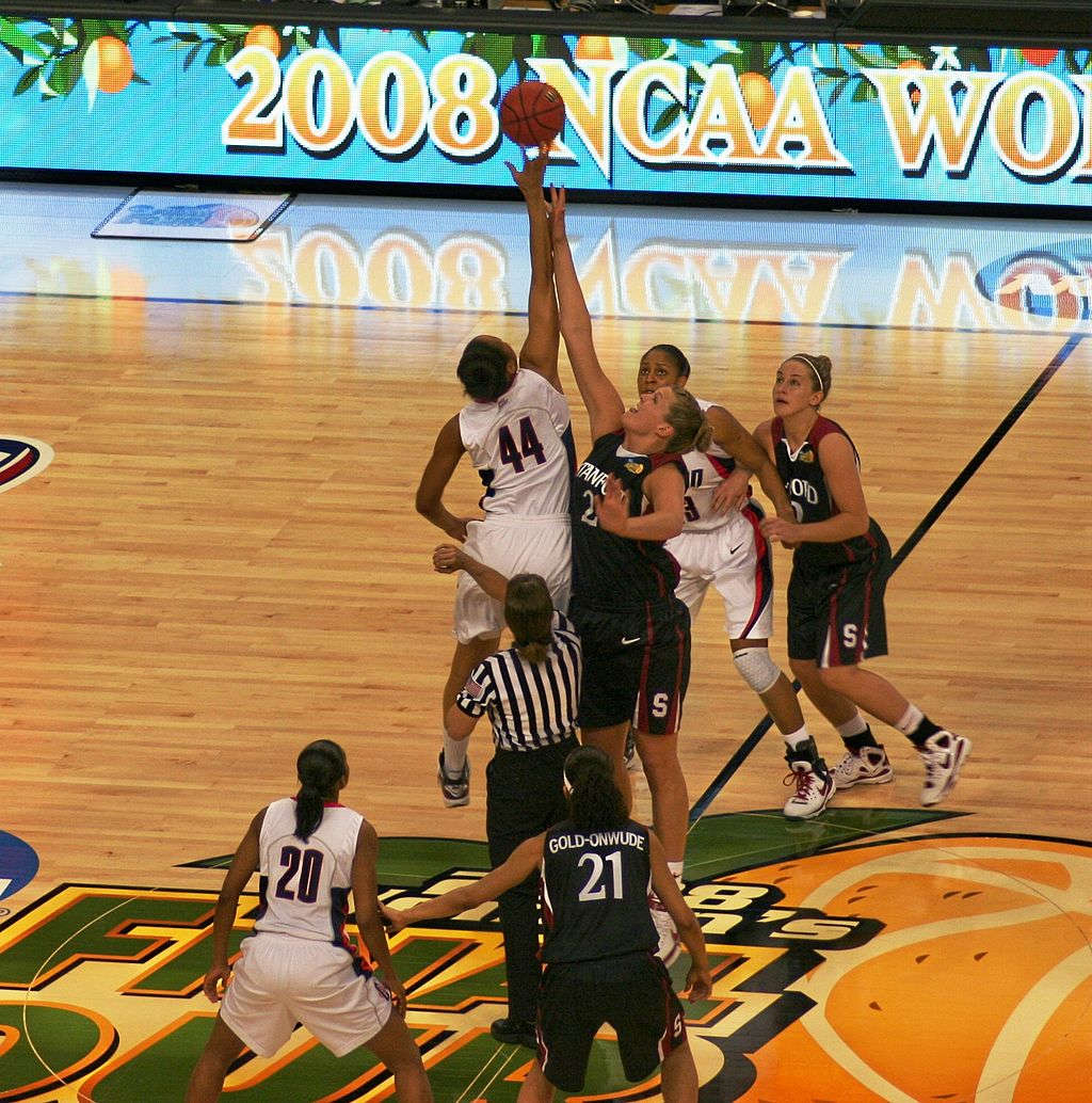 NCAA women's basketball - photo of action during basketball game