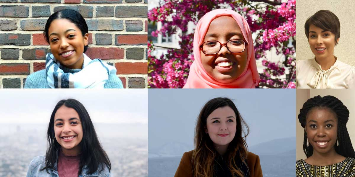 Nurah Ali, Shukri Ali, Ashley Anderson; Row 2, from left to right: Anmol Nagar, Kathryn Pundyk, Olaide Sode