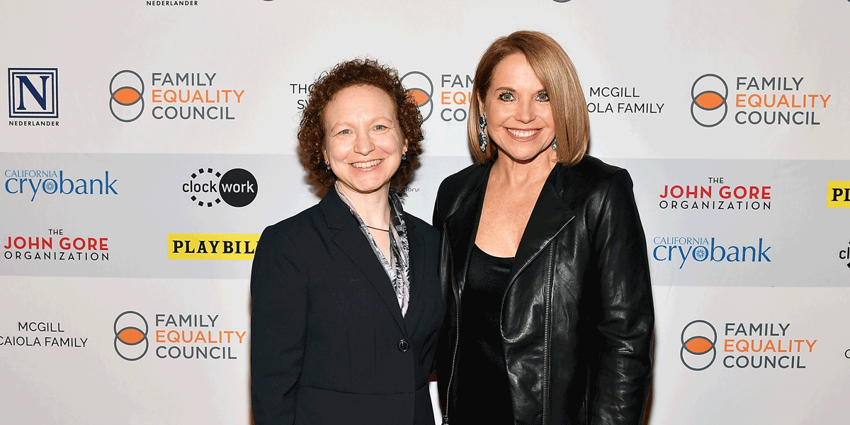 Dana Rudolph and Katie Couric at Family Equality Council Gala