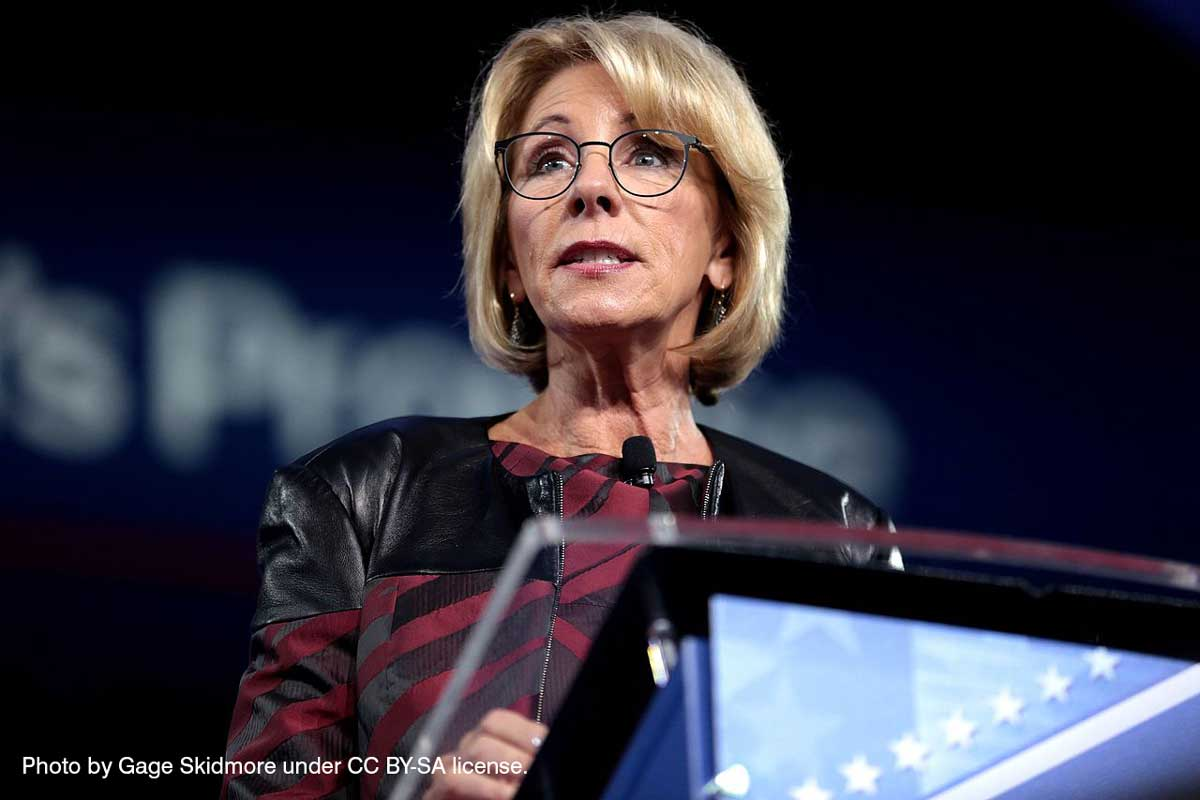 U.S. Secretary of Education Betsy DeVos