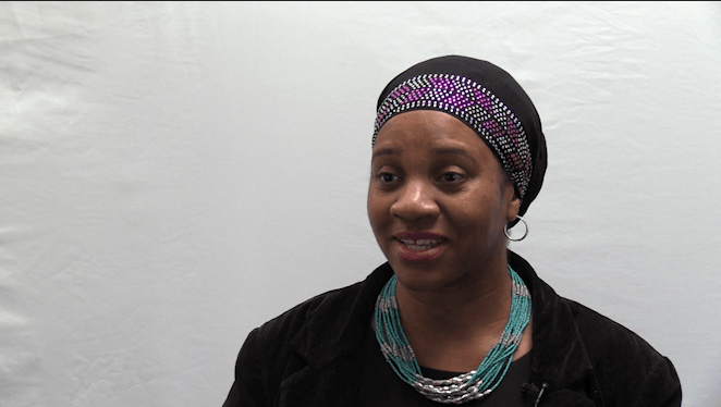 Screen Shot from video interview with Kamilah Drummond-Forrester of Open Circle